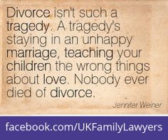 ... tragedy is staying in an unhappy marriage. #quotes #florida #familylaw