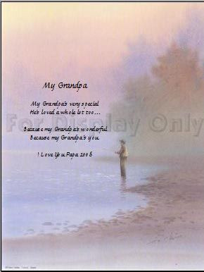 Fishing with Grandpa Poem   Poem name is
