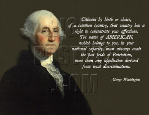 George Washington Assimilation Quote Poster