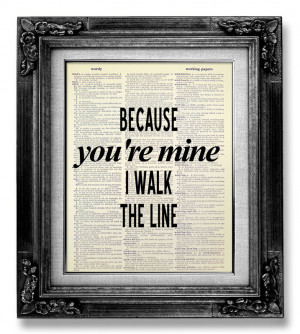 Country Lyric Quotes About Life Johnny cash wall art quote