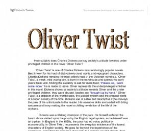 ... towards under privileged children in the novel 'Oliver Twist