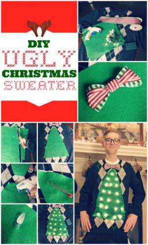 Funny Sayings On Christmas Sweaters Diy ugly christmas sweater
