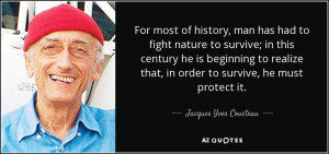 70 QUOTES FROM JACQUES YVES COUSTEAU | A-Z Quotes