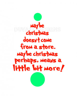 dr seuss christmas quote. printable. card size. RESERVED.