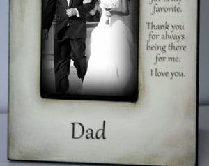 Father Daughter Wedding Quotes Father daughter wedding frame