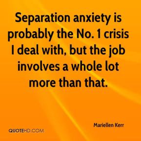 ... crisis I deal with, but the job involves a whole lot more than that