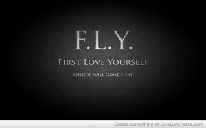 First love yourself beauty quote