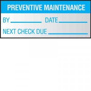 ... Maintenance & Service Labels > Preventative Maintenance Write On Self