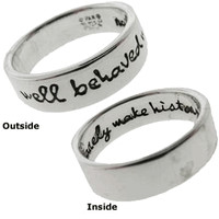 Sterling Silver Rings with Sayings (Five of the Best)