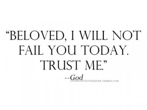 Trust Him... I am so thankful that our Jehovah LORD is soooo faithful ...