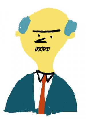 Illustration simpsons mr burns rob hodgson