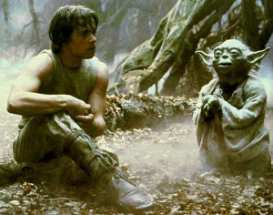 ... of Yoda here. The force is strong in me today. Better late than never