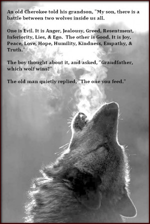 one of many native myths involving wolves