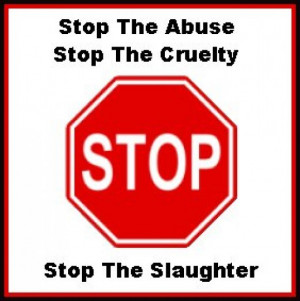Stop the Abuse, Stop the Cruelty, Stop the Slaughter