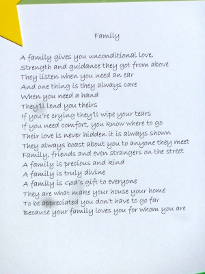 Poems About Family Love And Support Poems about family love and