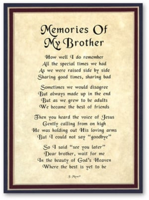 sympathy quotes for loss of brother