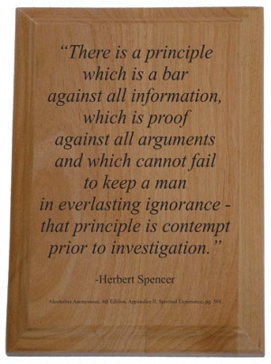 Home > Recovery Plaques > Herbert Spencer Quote Plaque