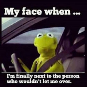 Kermit the Frog & rude drivers