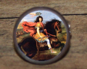 King Louis XIV of France on horseba ck Tie tack or Cuff links or Ring ...