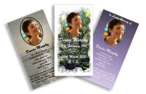 Memorial Cards - Size A7