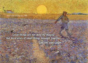 Sower with the Setting Sun (1888) painting by Dutch artist, Vincent ...