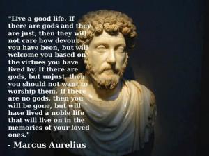 Marcus Aurelius says...