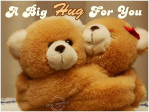 Big Hug For You Teddy Bear Graphic