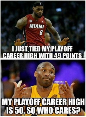 Kobe Bryant vs. LeBron James! # NBAPlayoffsCareerHigh