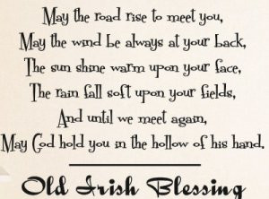 Old Irish Blessing Quote Inspirational Life Vinyl Wall Decal Sticker ...
