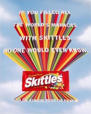 Skittles - ' the rainbow' campaign