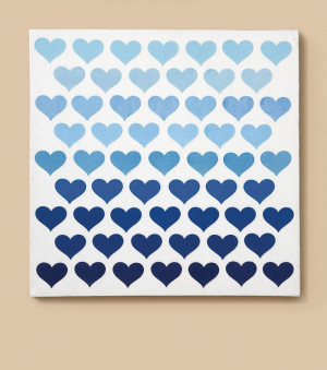 LOVE this ombre hearts canvas art piece! Cute idea for a little girl ...
