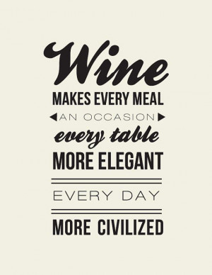 Andre Simon Quote// Wine Lovers Quote // Wine by LADYBIRDINK, $18.00