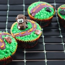Cars Inspired Cupcakes Featuring Mater