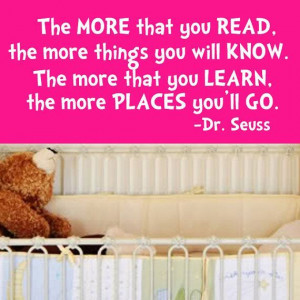 Dr. Seuss The More That You Read Quote Wall Decal Sticker Vinyl Art 12 ...