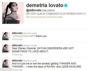 En toen deed het me eigenlijk wel terug denken dat Demi eigenlijk wel ...