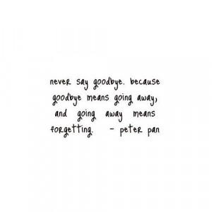 Never say goodbye - Peter Pan