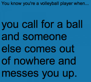 For all of us volleyball players out there