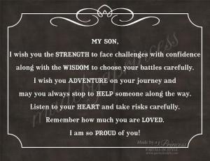 to my son graduation quotes quotesgram