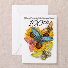 100th Birthday Greeting Cart Butterfly (Pk of 20) for