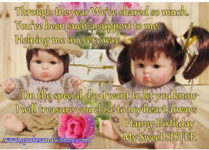 birthday quotes for sister in hindi , happy birthday quotes for sister ...