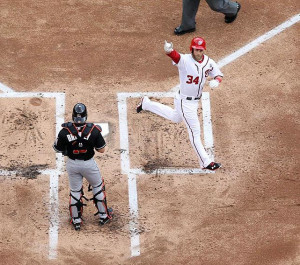 Bryce Harper...one day I will figure out why he flashes that sign when ...