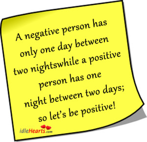 negative person has only one day between two nights;