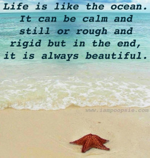 Life Is Like The ocean quote