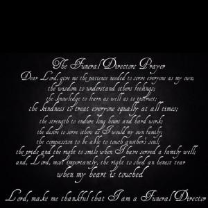 Funeral directors prayer