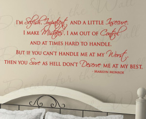 monroe quotes i m selfish impatient more marilyn monroe quotes