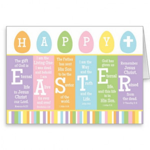 Happy Easter Bible Verse Card-Personalise Inside!