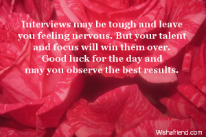 Interviews may be tough and leave you feeling nervous. But your talent ...