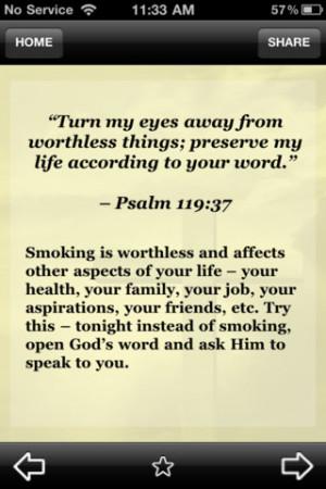 Biblical Encouragement - Stop Smoking 2.3