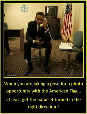 When you are faking a pose for a photo opportunity with the American ...