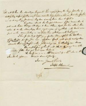 hume joseph 1777 1855 partial joseph hume 1846 autograph letter signed